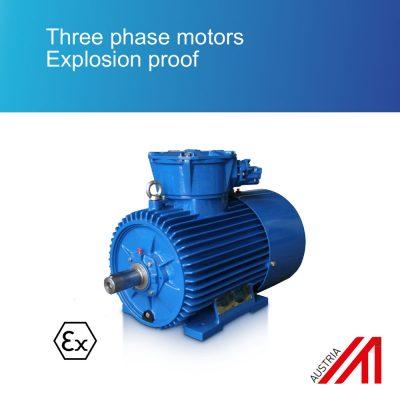 Three phase motors Explosion proof