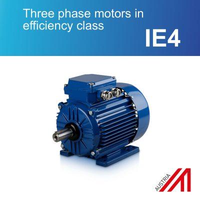 Three phase motors in efficiency class IE4